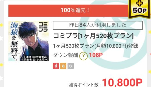 【モッピー】2月度15,000P分広告利用の内訳 初めて100%還元商品に手を出す