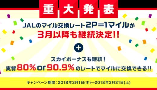 【速報】モッピー✕JALマイルキャンペーンが3月も継続実施決定のお知らせ!