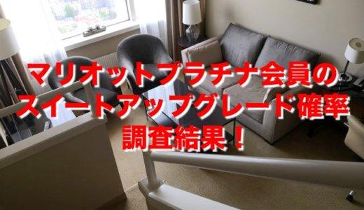 【マリオットプラチナ】スイートルーム無料アップグレード確率調査結果!【SPG】