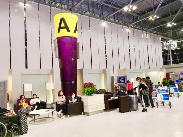 スワンアプーム国際空港タイ航空チェックインカウンターA