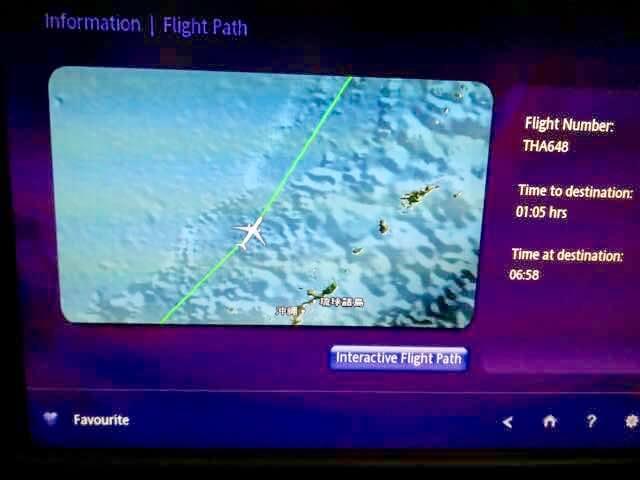 タイ航空フライトマップ