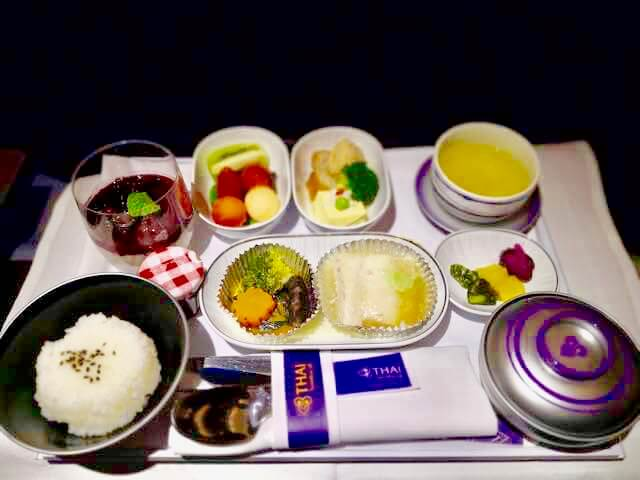 タイ航空ビジネスクラス機内食朝食和食