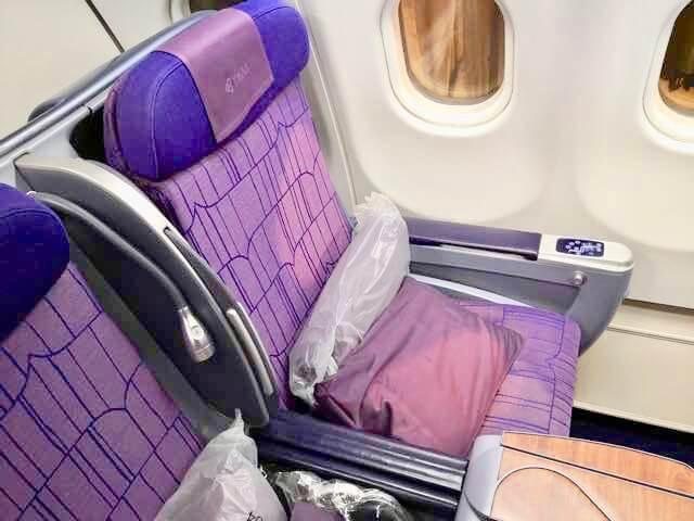 タイ国際航空 A330-300 ビジネスクラス シート 搭乗記