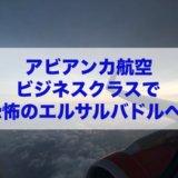 アビアンカ航空ビジネスクラスで恐怖のエルサルバドルへ!