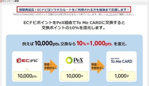 【ECナビ】ANAマイルへの交換レート実質99%キャンペーンが3月末まで延長決定!!