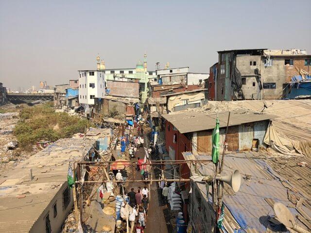 ムンバイのスラム街ダラヴィ(Dharavi)地区