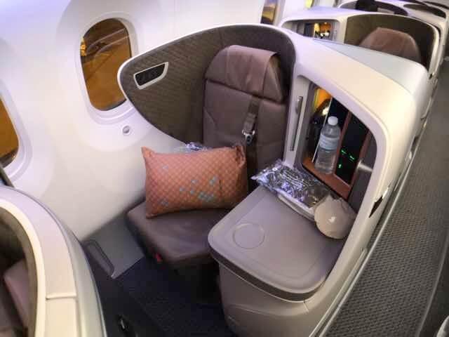 シンガポール航空787-10ビジネスクラスシート2